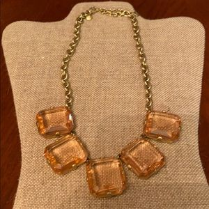J. Crew pink and gold necklace